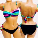 wholesale Swimwear: 4612 Women Swimsuit, Neon, Aztec Style