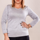 Großhandel Hemden & Blusen: 4667 Classic Basic Bluse, Übergröße, Grau