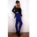 Großhandel Hosen: B16690 Damen Jeans, Miliz, Kornblumenfarbe