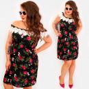 Großhandel Kleider: C17706 Damen Vintage Kleid, mit Spitze