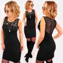 grossiste Vetements: A1019 Petite Robe Noire, Latex et Maille