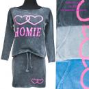 Damen Set, Rock und Bluse, Jeans, UNI, 5261
