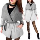 C24186 Hecho en  Polonia, elegante abrigo de gran t