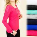 hurtownia Fashion & Moda: 4039 BAWEŁNIANY  TOP, BLUZKA, KORONKOWE WSTAWKI