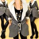 ingrosso Cappotti e giacche: H26166 efficace,  cappotto, colletto smashing