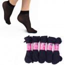 grossiste Vetement et accessoires: Chaussettes fines pour femmes, noir Chaussettes ha
