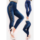 grossiste Vetements en jean: SOF32 Legging en bambou chaud, aspect brillant
