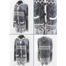 K62 Cardigan Aztec, Pull à capuche pour femme