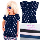 wholesale Shirts & Blouses: Women's Shirt, Blouse coton M-2XL, Flamingos,