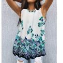 grossiste Vetement et accessoires: Chemisier femme, haut d'été, fleurs L-4XL, 662