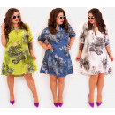 EM86 Women Shirt Dress, TROPIC, Plus Size