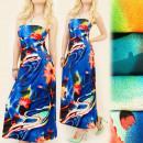 Großhandel Kleider: C17114 Attraktives langes Kleid, Tube Line, Jets