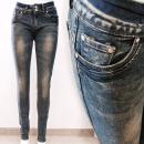 wholesale Jeanswear: B16829 Classic Women Jeans, Pants, Wide Belt