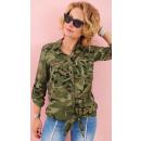 Großhandel Hemden & Blusen: BI758 Moro Hemd, Übergröße, Trendy Militas