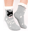 4370 Fur Socks, ABS Slippers, Funny Cats