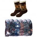 Dikke heren sokken met bont, ABS, 4939