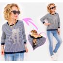 ingrosso Ingrosso Abbigliamento & Accessori: BI760 Blusa ampia, camicia, felpa con stampa gatti