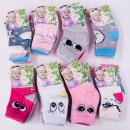 nagyker Ruha és kiegészítők: Baba zokni, pamut, 0-24 4853 minta keverék