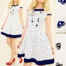 Großhandel Fashion & Accessoires: BI467 Elegantes  Kleid,  kontrastierende ...