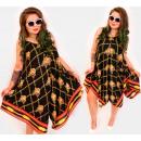 Großhandel Kleider: C17712 Damenkleid, V-Ausschnitt, Musterketten