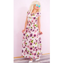 Großhandel Kleider: C17522 Lange Frauen Kleid, Sonnenblumen Muster