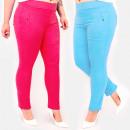Großhandel Hosen: C17658 Bunte Damenhose, Übergröße