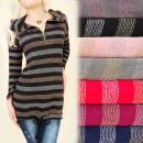 BI632 Tunique ample, tricots brillants, ceintures