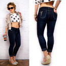 wholesale Jeanswear: B16669 Women Pants  Jeans, Push-up, and Brads