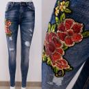 Großhandel Jeanswear: B16839 Schöne Jeanshose mit Paillettenverzierung