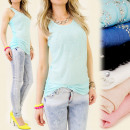 groothandel Kleding & Fashion: 3964 TOP IN  bandjes, KANT, SILVER jets
