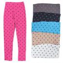Großhandel Fashion & Accessoires: Leggings für Mädchen, 104-152, Hundepfoten, 5700