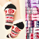 wholesale Shoes: 4174 Warm Socks,  ABS Slippers, Fur, Roses