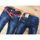 wholesale Childrens & Baby Clothing: D143 GIRLS JEANS WITH BELT 122 1