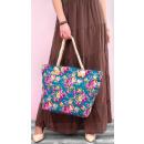 groothandel Handtassen: T47 Grote damestas, shopper, romantische rozen