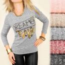 groothandel Truien & pullovers: C11271 Herfstblouse, gouden dromerprint