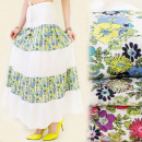 wholesale Skirts: FL178 COTTON MAXI  SKIRT, meadow PATTERN MIX