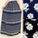 wholesale Skirts: FL531 Long Maxi  Skirt, Floral Ornament, Loose Cut