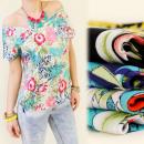 mayorista Ropa / Zapatos y Accesorios: BB12 TOP, blusa,  flores exóticas, MIX KIMONO