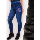 SOF30 Warm Bamboo Leggings Jeans with Printing