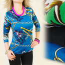 3986 CLASSIC BLOUSE, TOP, bijoux DESIGNS MIX