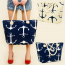 wholesale Bags & Travel accessories: T32 NICE AND LARGE  BAG, SHOPPER BAG, ANCHORS