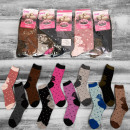 wholesale Fashion & Apparel: Wool Socks Women, Roses, 35-42, 4919