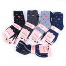 grossiste Bas & Chaussettes: Chaussettes pour femmes avec un coeur, coton, 35-4