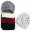 Großhandel Kopfbedeckung: Warmer Damenhut, Mütze, 2 Lagen, durchbrochen, 508