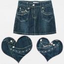 grossiste Vetements enfant et bebe: A19154 Jupe en jean pour les filles 4-12