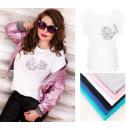 groothandel Kleding & Fashion: B18236 Blouse,  Top, katoen , Plus Size, Bloemen