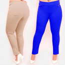 Großhandel Hosen: C17643 Effektive Damenhose, Große Größe, Schiebere