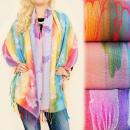 FL619 Schal, Schal, Schal, Regenbogenfarben