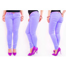 Großhandel Jeanswear: B16737 Lavendel  Damen Jeans, mit Gürtel