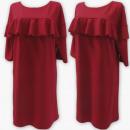 Großhandel Kleider: D4076 Kleid, Made In Poland, 48-54, Rot